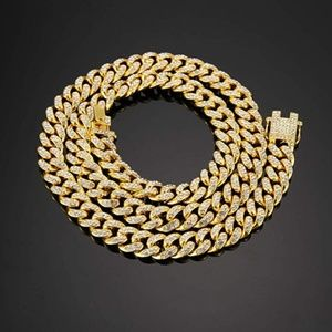 18K Gold Plated CZ Fully Iced-Out Miami Cuban Link